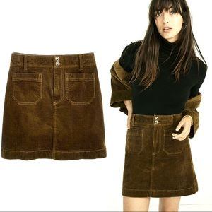 Madewell Corduroy A-Line Pocket Mini Skirt 4